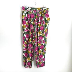 H&M pink flowered lounge pant
